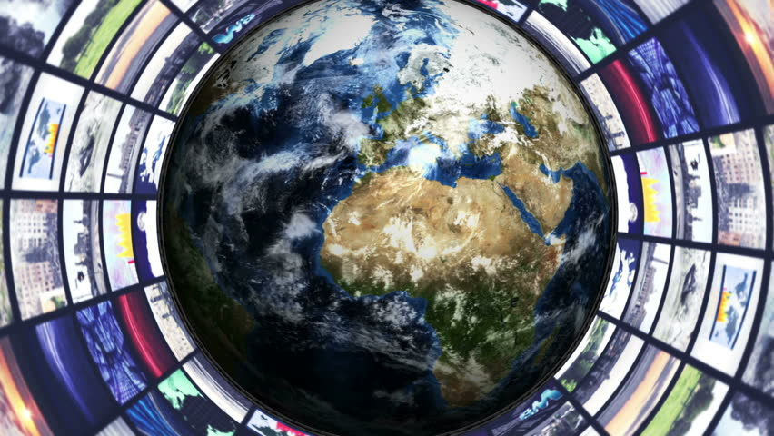 Earth and Monitor Tunnel Background   Shutterstock HD Video #8820460