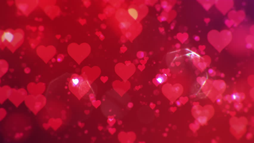 Valentine's day abstract background,flying hearts and particles.Loopable. | Shutterstock HD Video #8851312