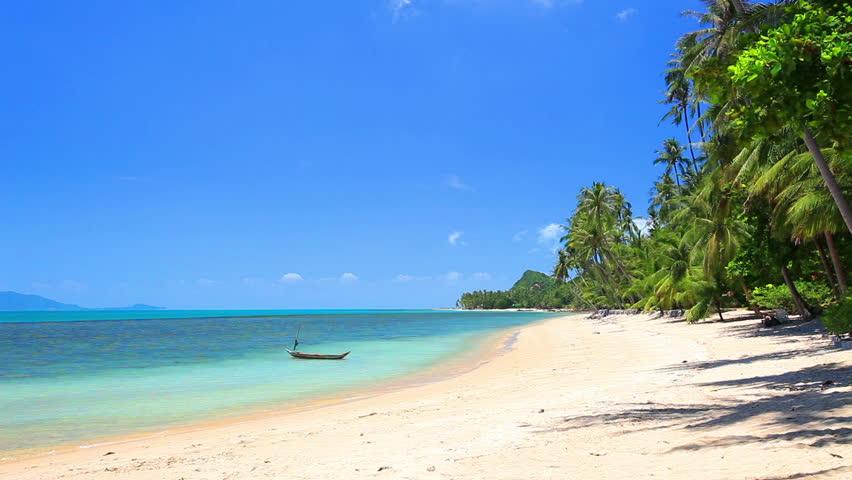 Beautiful tropical beach   Shutterstock HD Video #8852419