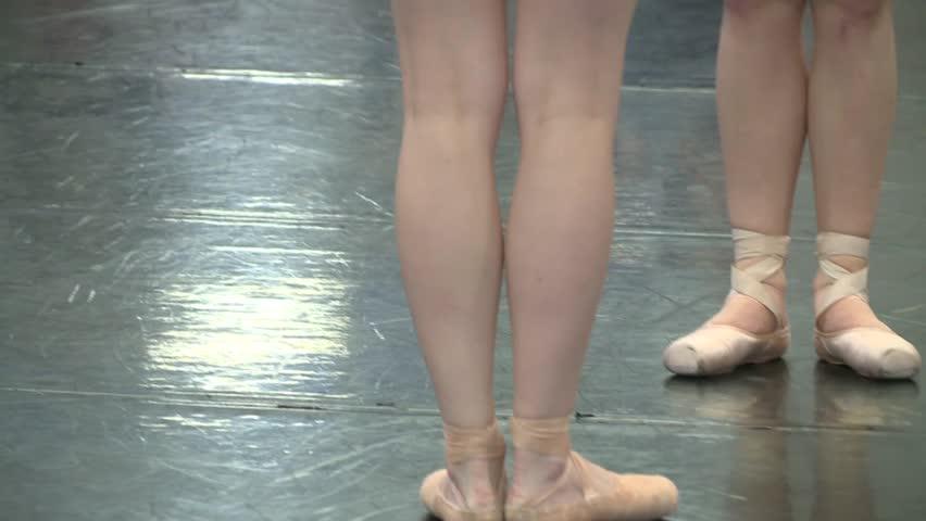FEET OF BALLET DANCERS DANCER PERFORMANCE WORKING OUT IN CLASS SCHOOL COLLEGE HIGH DEFINITION 1080 HD 1920X1080 | Shutterstock HD Video #8875282