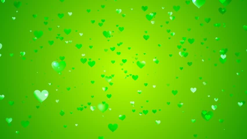 Зеленые сердечки фон картинки