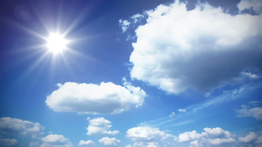 Sunny Sky with Clouds - Stock Footage Video (100% Royalty ...