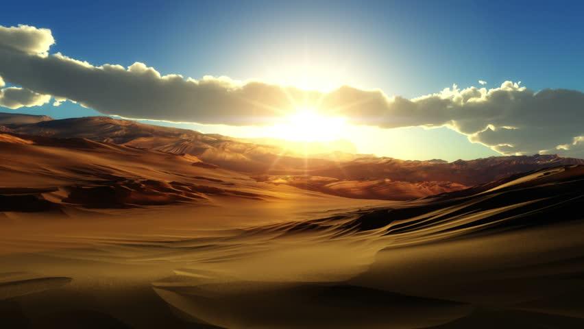Fly over desert sunset | Shutterstock HD Video #8921353