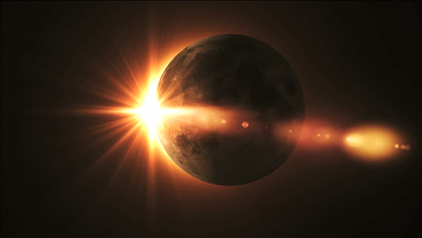 Rotation of a planet with lens flare #894133