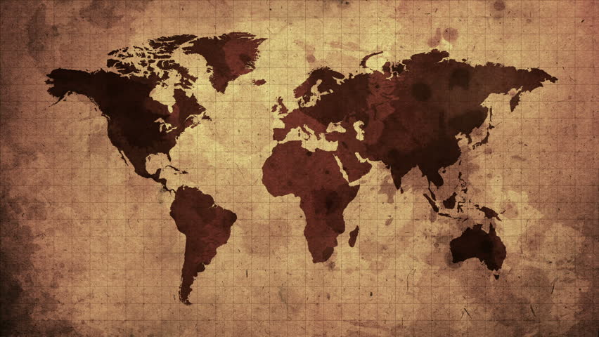 Vintage Map Of The World Stock Footage Video 100 Royalty Free 8957623 Shutterstock