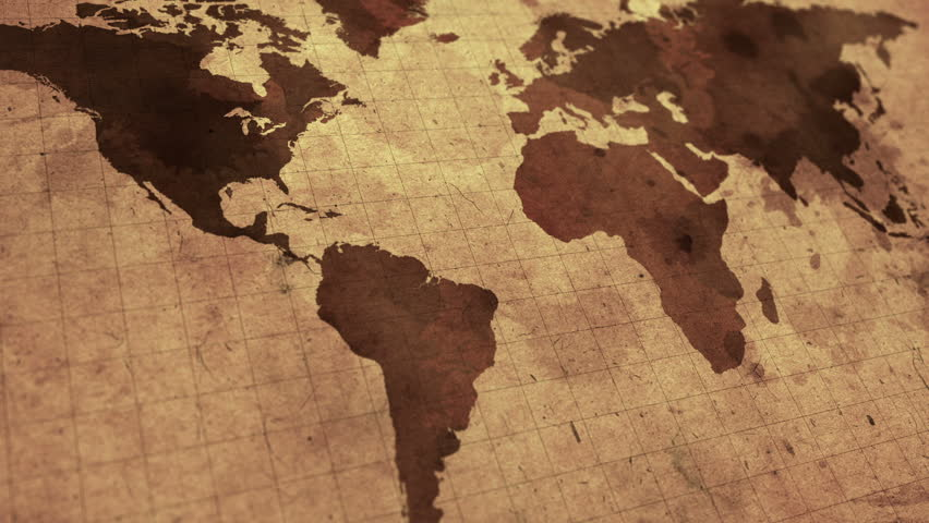 Vintage Map Of The World Stock Footage Video 100 Royalty Free 8957632 Shutterstock