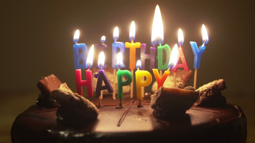 Happy Birthday Candles On Birthday Stock Footage Video ...