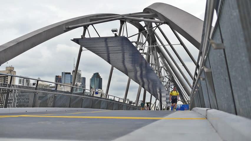 Modern city lines. Slow motion dolly. Brisbane, Queensland, Australia. Jan 2015. | Shutterstock HD Video #8961577