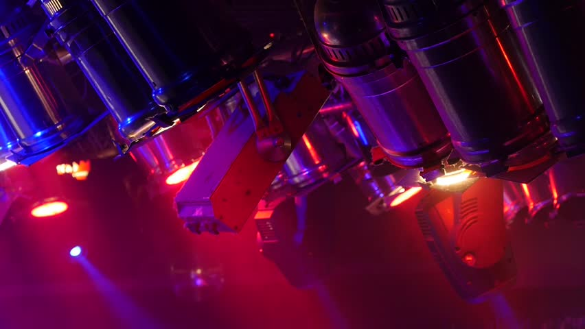 Spotlight - Stage Lights - music club - music bar - theatrical lighting - disco club | Shutterstock HD Video #8985757