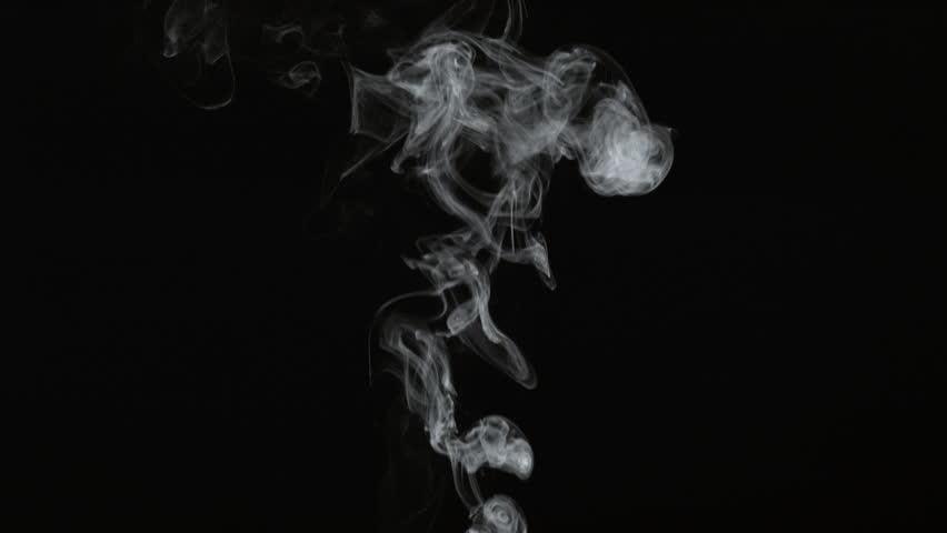 Smoke on black background in slow motion; shot on Phantom Flex 4K at 1000 fps #8987284