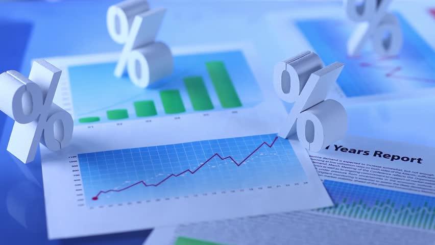 Interest rate. percent | Shutterstock HD Video #9020407