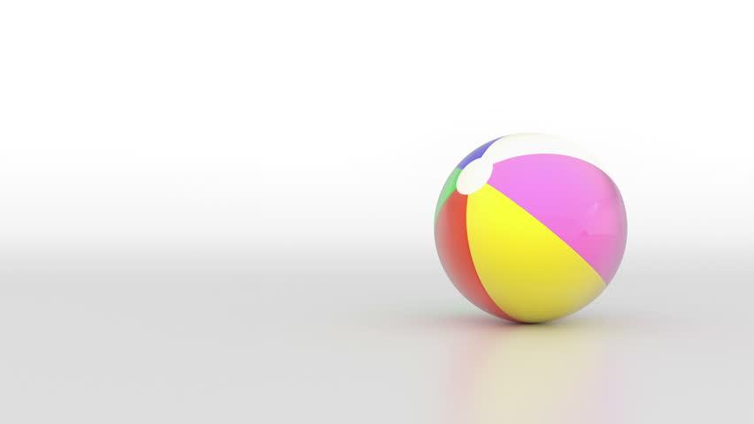 Spinning beach ball. (loop ready file)