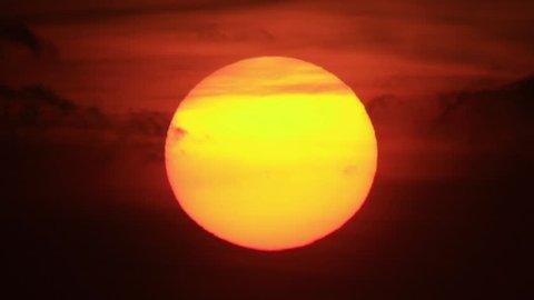 big setting sun