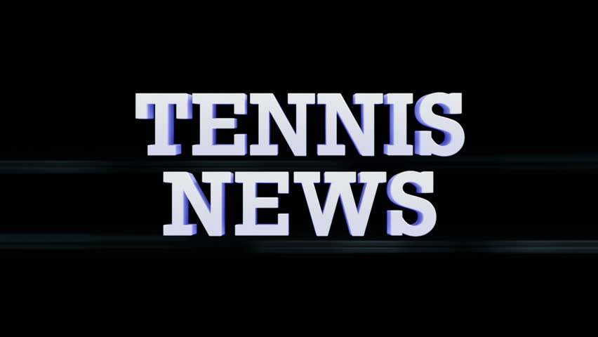 TENNIS NEWS Text Flares Transition, with Alpha Channel, Loop | Shutterstock HD Video #9059128