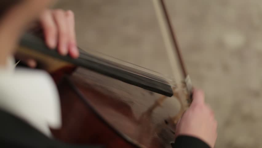 Man playing the cello. close-up | Shutterstock HD Video #9102761