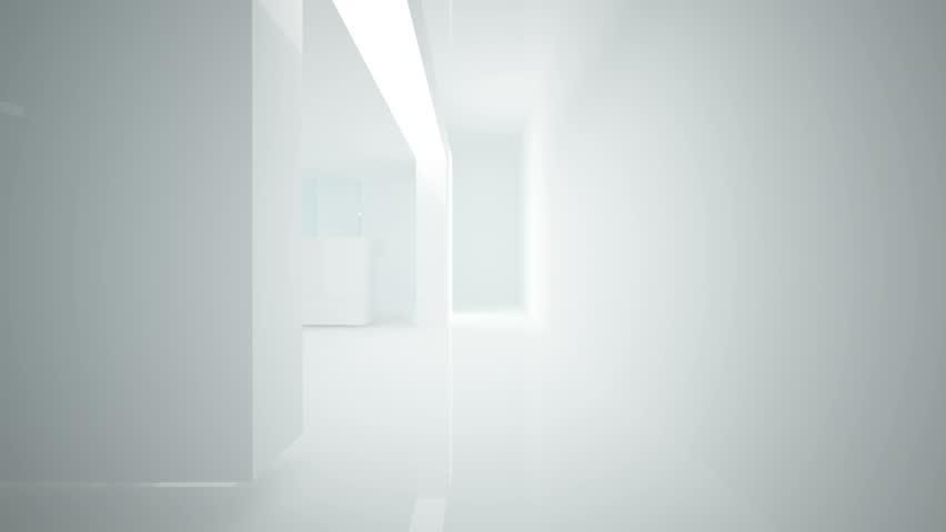 Abstract interior of glass blocks