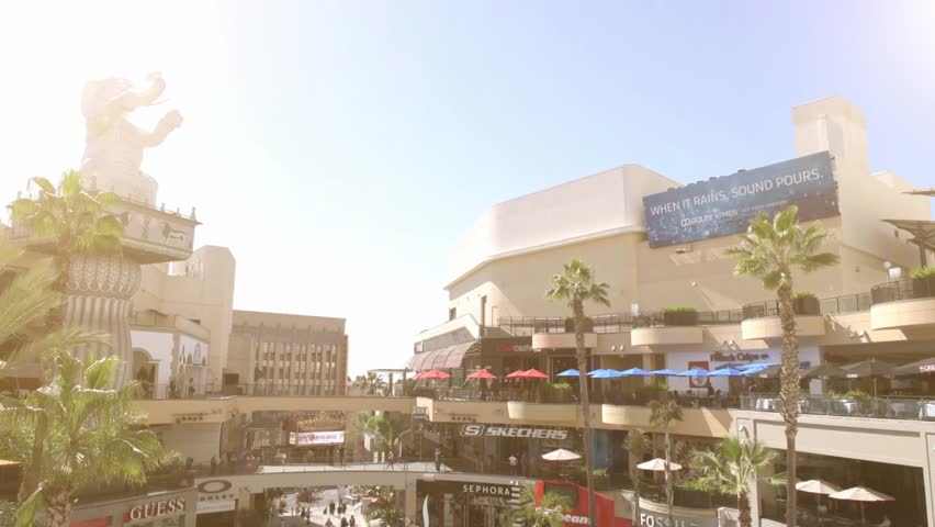 LOS ANGELES, USA - March 8, 2015 The Famous Hollywood/Highland Center Shopping Mall Center on March 8, 2015 Los Angeles, CA