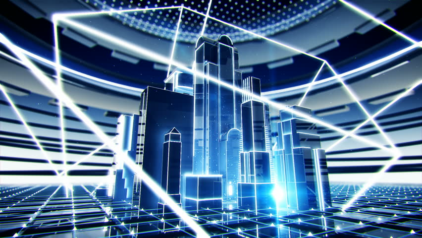 Bright abstract city Shiny background, HD loopable | Shutterstock HD Video #913087