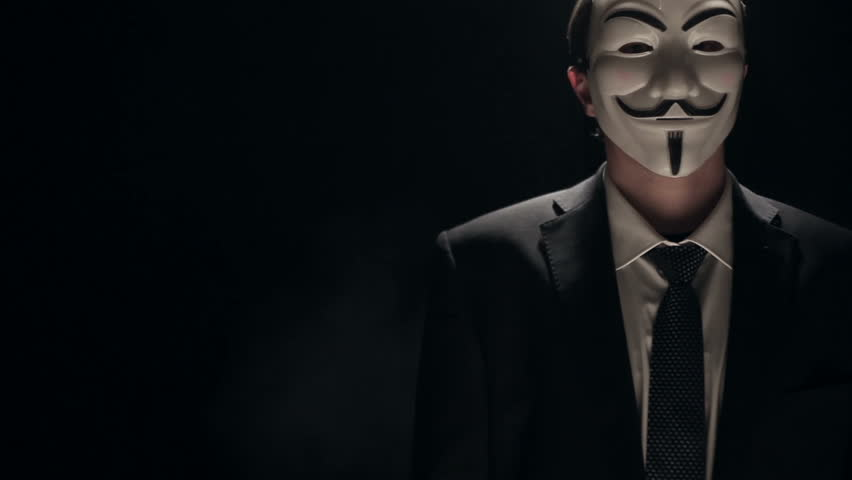 Anonymous Hacker Activist On Black Stock Footage Video 100 Royalty Free 9154262 Shutterstock