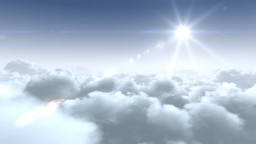 Flight Over the Clouds, loop-able 3d animation, hd. Look also new 4K clouds in my portfolio Clip IDs 5370116 / 5361095