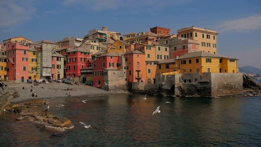 Liguria Italy Genoa Boccadasse Cityscape Stock Footage Video 100 Royalty Free 9177092 Shutterstock