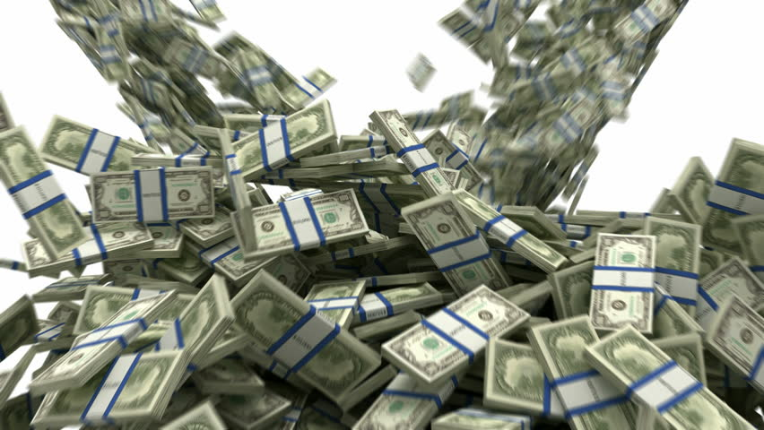 Y-shaped US dollar bundles flow with slow motion. Wealth and money | Shutterstock HD Video #918154