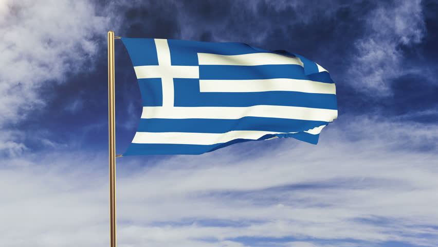 Greece Flag Waving In The Stock Footage Video 100 Royalty Free 9192527 Shutterstock
