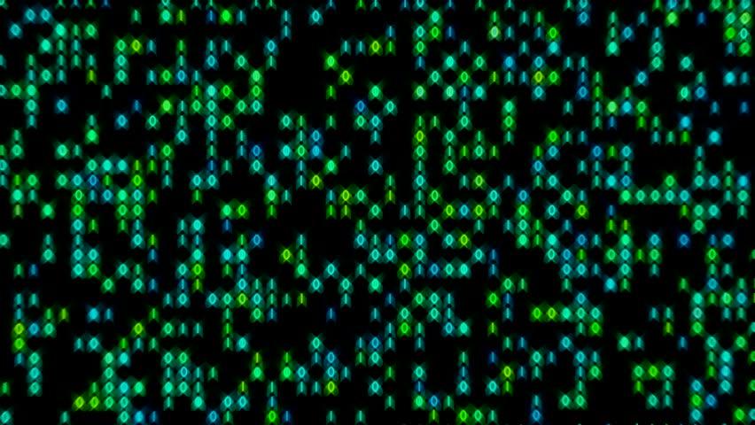 Data Stream Binary Glowing in Green Blue Loop | Shutterstock HD Video #9195239