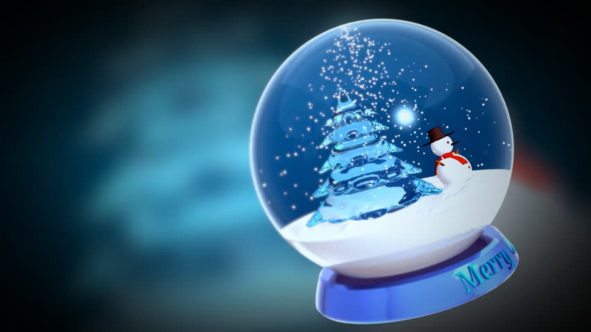 Computer-rendered animation for TV or celebration with blue crystal ball and vague background.  | Shutterstock HD Video #919732