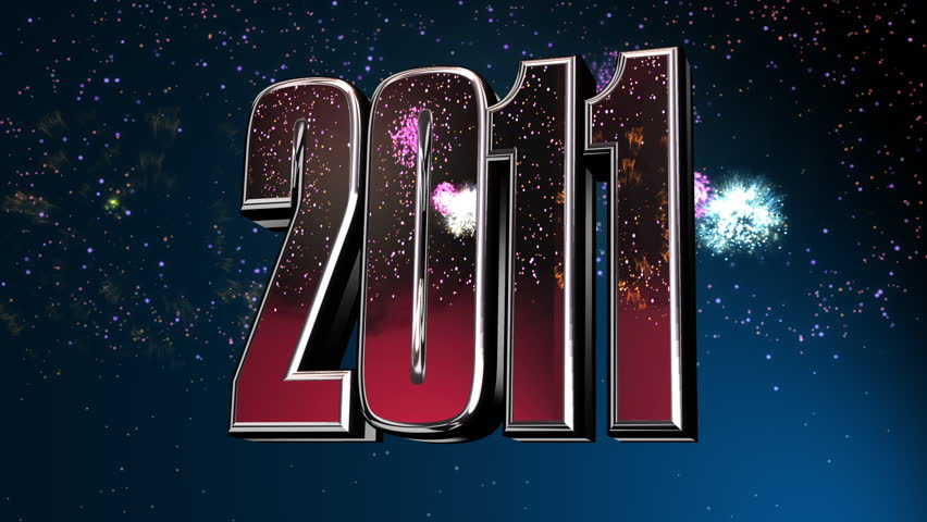 New Year 2011. 3d animation