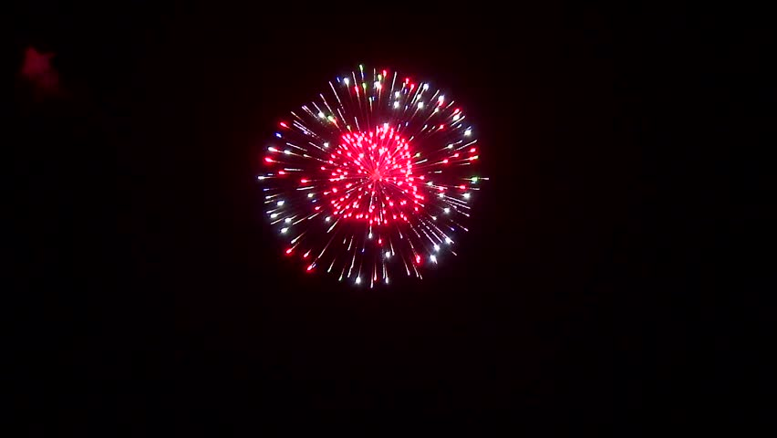 Colorful fireworks in the night sky | Shutterstock HD Video #9262409