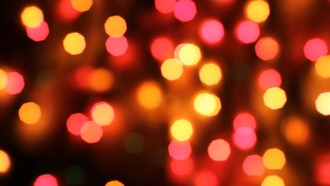 Multi-colored bokeh lights, HD