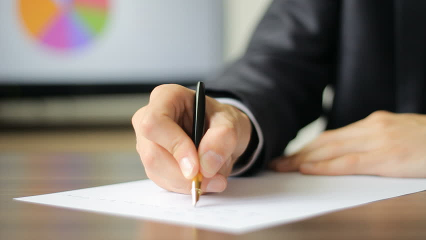Man in Suit Writing a Stock Footage Video (100% Royalty-free) 9278027    Shutterstock