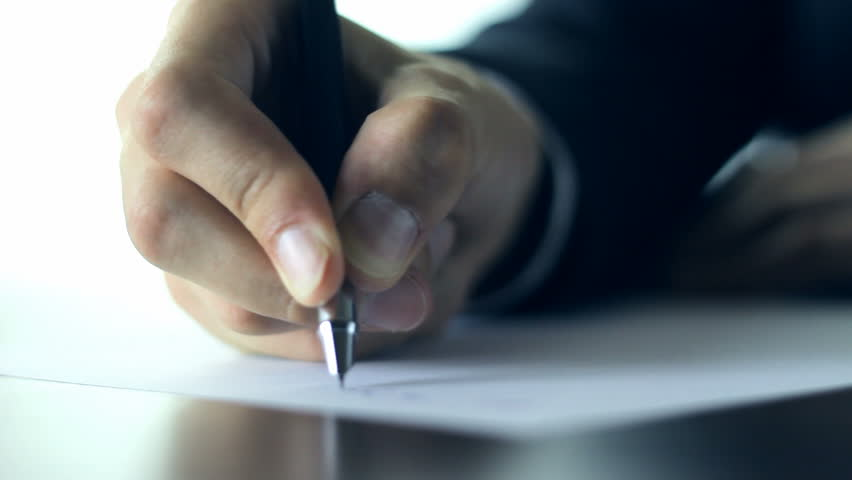 Business Person Writing a Letter Stock Footage Video (100% Royalty-free)  9278153 | Shutterstock