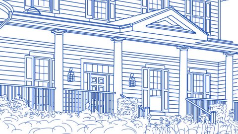 Drawing Of Beautiful House Transitioning Stock Footage Video 100 Royalty Free 9291428 Shutterstock