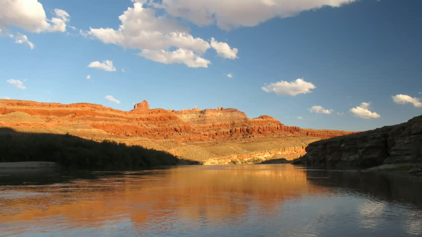 Time lapse sunset over Colorado River, Potash Road, Utah