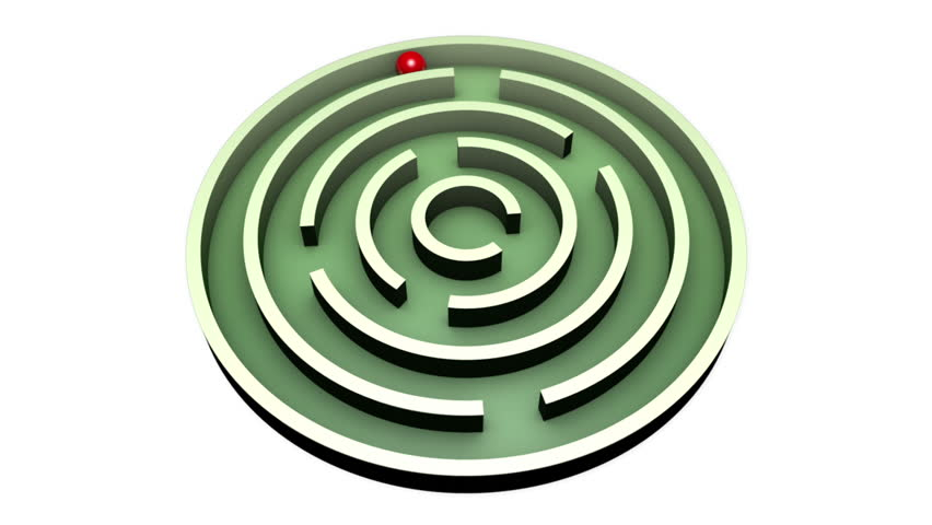 Red ball into the center of the green maze. Alpha channel is included. The video clip is made in Cinema 4D (render in 16bit Tiff-sequence). Finishing in After Effects.