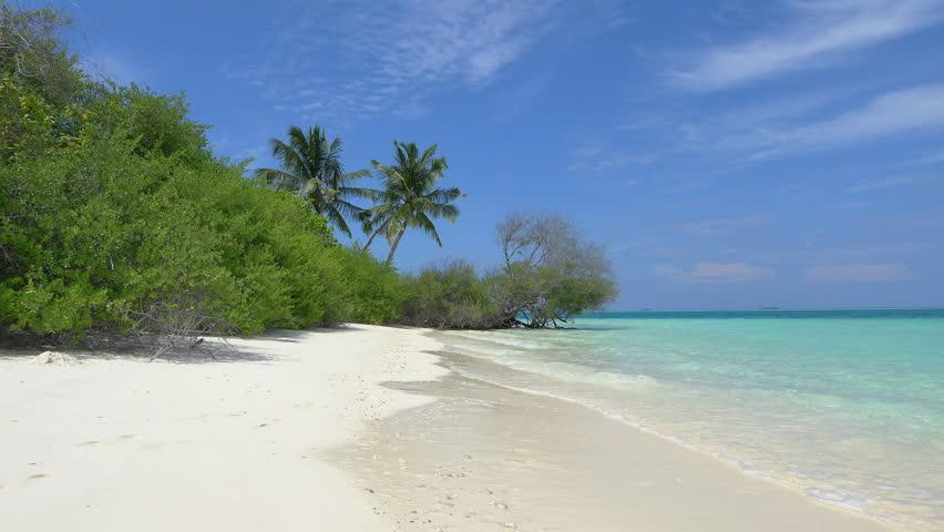 Exotic white sand beach in Maldives island   Shutterstock HD Video #9322448