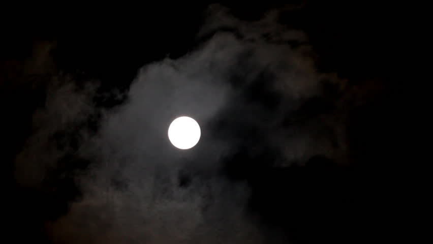 Timelapse of moon moving between clouds   Shutterstock HD Video #933793