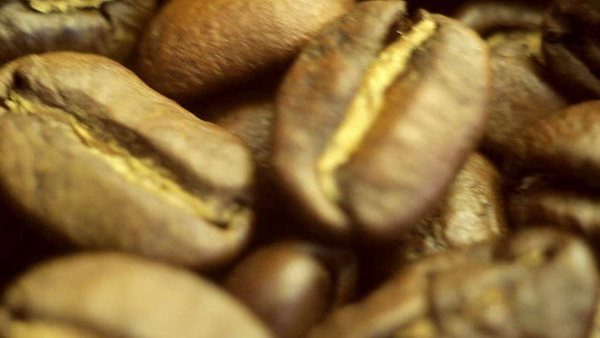 Roasted coffee beans super macro  | Shutterstock HD Video #9354647