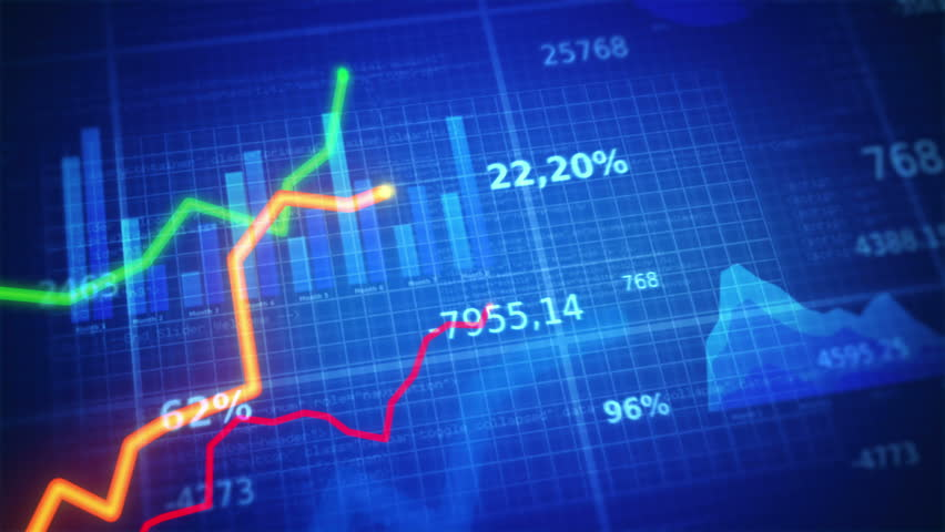 Financial figures and diagrams showing increasing profits and losses. 2 In 1. Blue.  EACH SHOT IS LOOPABLE. More options in my portfolio. | Shutterstock HD Video #9360644