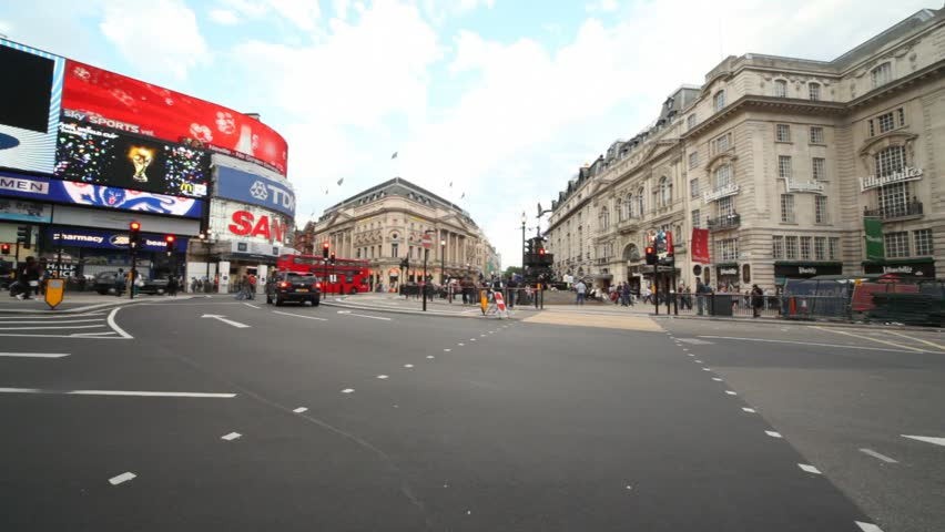London - June 7: Vehicle traffic at Piccadilly Circus on June 7, 2010 in London, England. Piccadilly Circus in Westminster, built in 1819, has for many years been a major London landmark, seen by many as the capital's center.