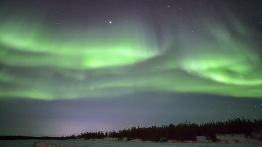 4K Timelapse footage - Northern lights on the polar sky   Shutterstock HD Video #9375218