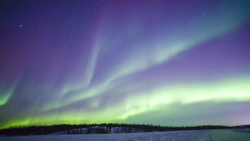 4K Timelapse footage - Northern lights on the polar sky | Shutterstock HD Video #9375230