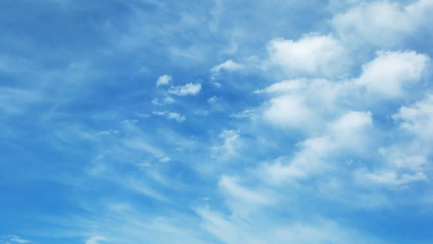 Time lapse of blue sky with fast moving clouds #939070