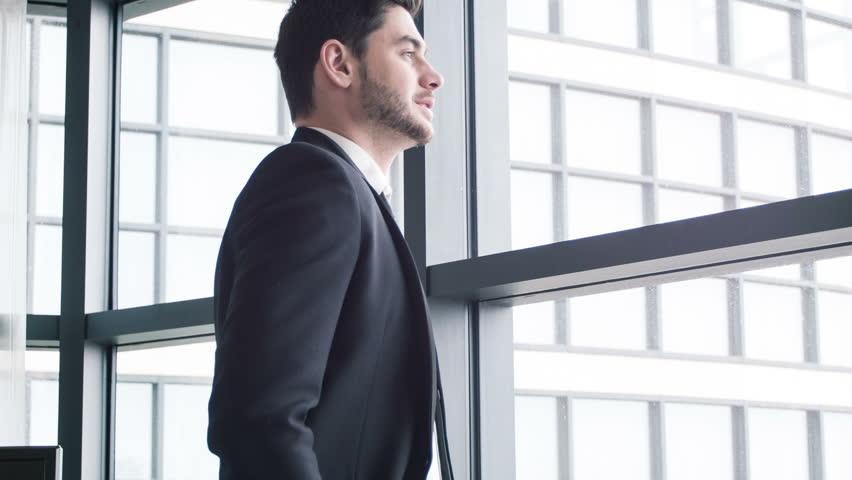 Confident And Successful Businessman Handsome Arkivvideomateriale 100 Royaltyfritt 9399839 Shutterstock