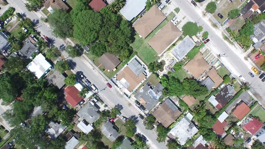 Aerial video of ANywhere USA Urban neighborhood 2