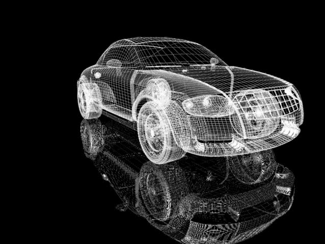 Rotation of the reticulated model of car