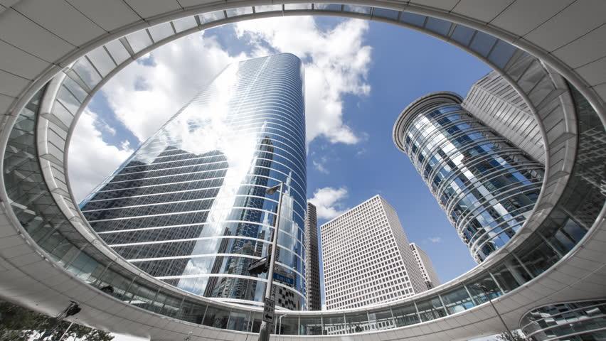 Houston - CIRCA DECEMBER 2013: Skyscrapers, low angle