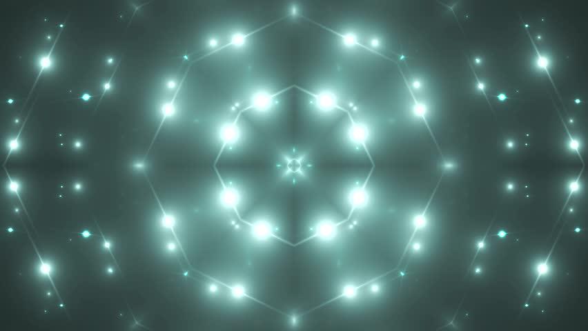 Fractal neon kaleidoscopic background. Background motion with fractal design. Disco spectrum lights concert spot bulb. More sets footage in my portfolio #9507764